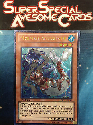 Mermail Abysslinde ABYR-EN014 Unlimited New Abyss Rising R0V Ultimate Rare