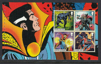GB 2019 4 x 1st CLASS MARVEL COMICS BOOKLET PANE MNH from DY29