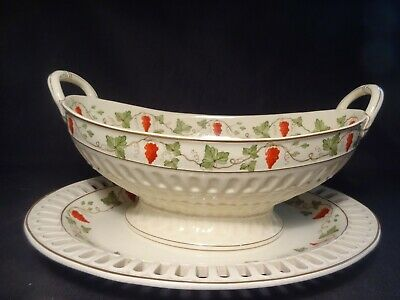 Antique Wedgewood Pearlware English Bowl & Underplate late18th-early 19th cent