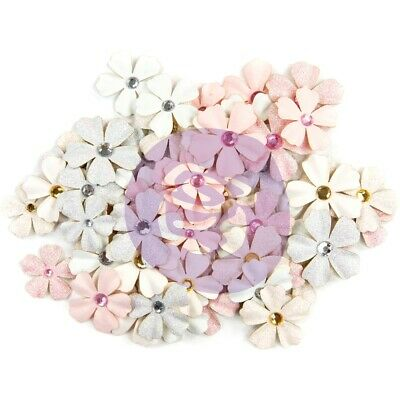 Prima Marketing Poetic Rose Paper Flowers 60/pkg-allegria W/glitter Accents