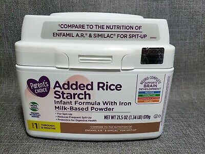 Lot of 2 - Parents Choice Non-GMO Added Rice Starch Infant Formula with Iron