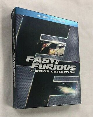 FAST & Furious 7-Movie Collection (Blu-ray 2016, 8-Disc Set) - FREE Shipping!