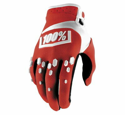 100% Men's Airmatic Gloves XL Red/White 10004-087-13
