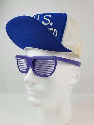 Authentic 1980's vintage Shutter Shades sunglasses purple slats NOS never worn