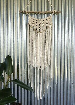 Gorgeous Lace & Berry Knot Handmade Macrame Wall Hanging