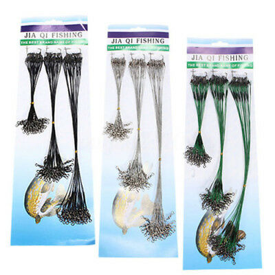 72x Fishing Trace Lure Leader Stainless Steel Wire Spinner Swivel Line