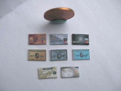8 x DOLLHOUSE BARBIE MINIATURE CREDIT CHARGE CARDS 1:6 SCALE