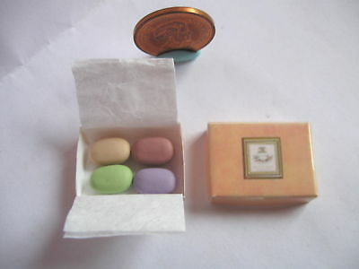 4 x DOLLHOUSE MINIATURE LUXURY SOAPS SOAP IN BOX 1:12 SCALE