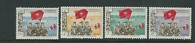 LAOS PATHET-LAO 1965 NEUTRAL GOVERNMENT issue complete set of 4 VF MNH