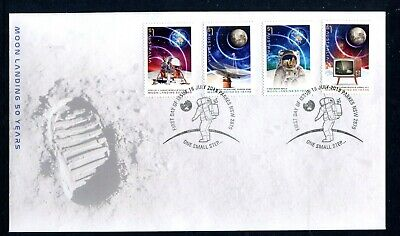 2019 The Moon Landing 50 Years On (Gummed Stamps) FDC - Parkes NSW 2870 PMK