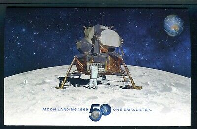2019 The Moon Landing 50 Years On Post Office Pack With 4 Stamps & Mini Sheet