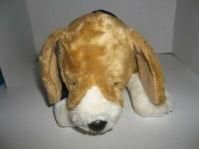 """babw build a bear workshop beagle puppy dog plush with magnets in mouth 10"""" tall"""