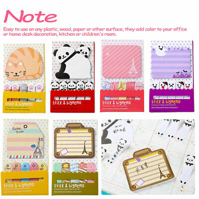 Cute Animal Cat Panda N Times Sticky Notes Memo  Sticker Post Note pad