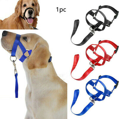 No Pull Pet Dog Muzzle Head Collar Gentle Halter Leash Leader Straps for Dogs
