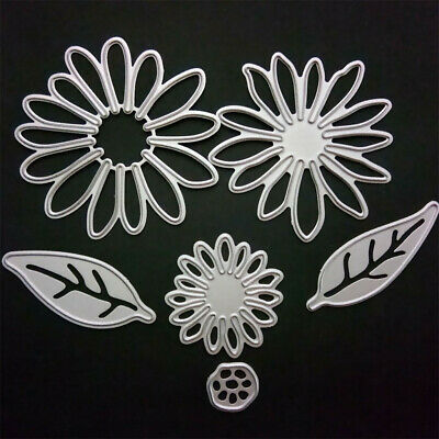 6PCS DIYMetal Flower Leaves Shaped Cuts Cutting Dies Stamps Embossing Stencil