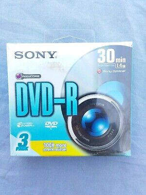 Sony DVD-R 3 Pack 30min For Video Camera