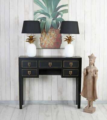 Console Table China Black Wall Side Feng Shui Make-Up Flurtisch