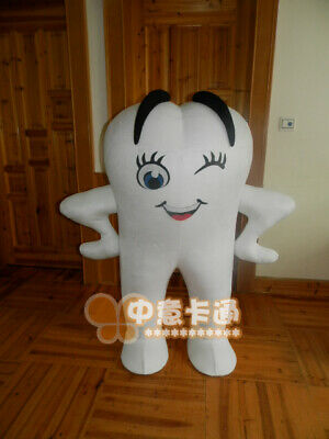 1.2m Fixed White Teeth Advertising Props Cartoon Cosplay Fancy Dress For Child