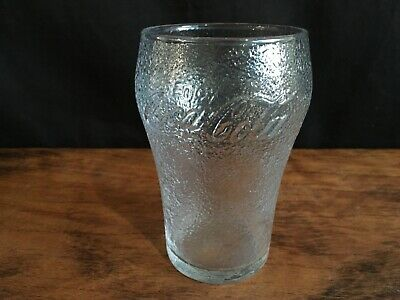 Collectable Enjoy Coca Cola Dimpled Frosted Coke Glass