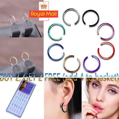 Nose Ring Surgical Steel Fake Nose Rings Hoop Lip Nose Rings Small Thin Piercing