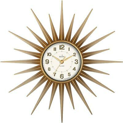 Acctim Stella 43cm Retro Sunburst Wall Clock For Home or Office