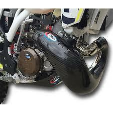 PRO CARBON Fibre NEW XL Exhaust Guard STD OEM PIPE KTM 250 300 EXC 2020