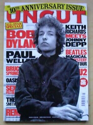 Bob Dylan Uncut #123 Magazine August 2007 Bob Dylan  Cover With Feature Inside U