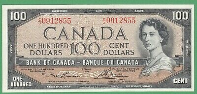 1954 Bank of Canada $100 Dollars Note - Lawson/Bouey - C/J0912855 - UNC