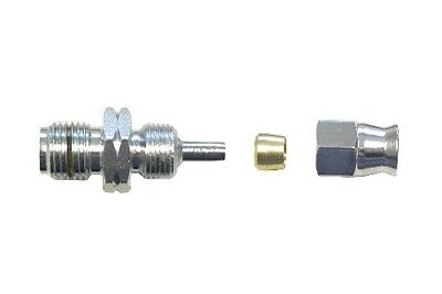 Male Hose End 10mm x 1.00mm Concave on to Brake Hose Chrome (Per 5)