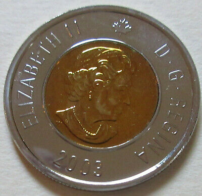 2003 Canada NO CROWN PROOF Toonie Two Dollar Coin. UNC. NICE GRADE (D306)