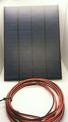 3 Watt Resin Solar Panel Charger For 12V Electric Fence Energiser Battery