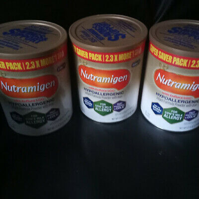 3 CANS New Sealed Extra Value Size Nutramigen Baby Formula 27.8oz Tubs