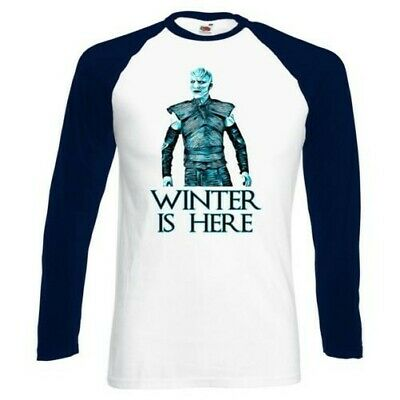 ALM786t-Mens Funny T Shirts-Winter is Here-White Walker Game of thrones Inspired
