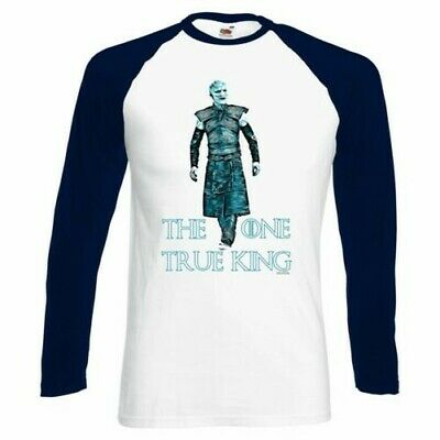 ALM786t-Mens Funny T Shirts-One True King-White Walker Game of thrones Inspired