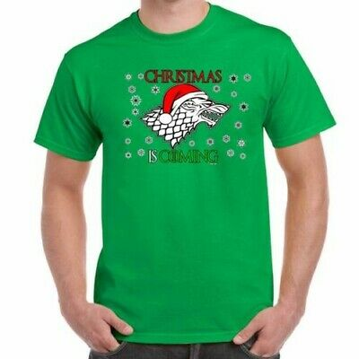 ALM786t-Mens Funny T Shirts-Christmas (Winter) is Coming-Game of Thrones Style