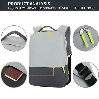 Men Waterproof Anti-theft Laptop  Backpack Business School Rucksack Travel Bag