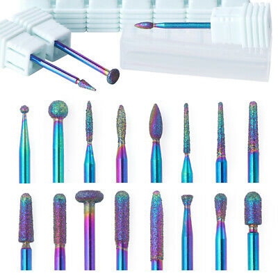 Colorful Nail Drill Grinding File Bits For Electric Machine Pedicure Nail Tool
