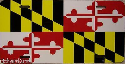 Aluminum License Plate US State Maryland flag NEW