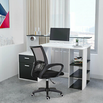 Home Office Computer Desk with Drawers Study Desk Workstation PC Laptop Table