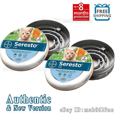 Bayer Seresto Flea and Tick Collar for Cat. FREE SHIPPING--2 Pack