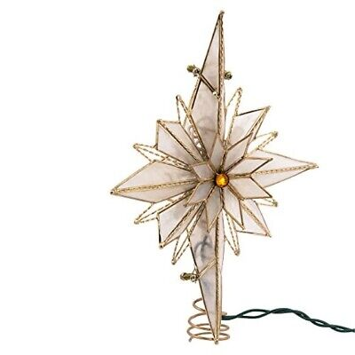 Kurt Adler 10-Light 10-Inch Capiz Classical Multi-Pointed Bethlehem Star Treeto