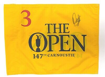 Francesco MOLINARI Signed Carnoustie 2018 Open Golf Course Used Flag 3 AFTAL COA