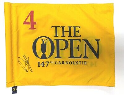 Francesco MOLINARI Signed Carnoustie 2018 Open Golf Course Used Flag 4 AFTAL COA