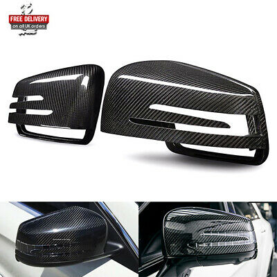 Real Carbon Fibre Wing Mirror Cover Replacement Mercedes A B C CLA E GLA S Class
