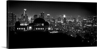 """View of Los Angeles at night from the Griffith Park Observatory"" Canvas Art"