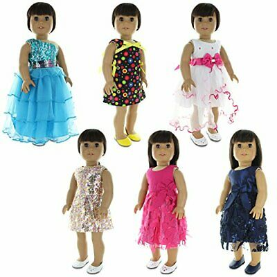 Doll Clothes  6 Dress Outfits Bundle Fits Clothing Sets Fits American Girl Do...