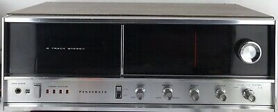 Vintage Panasonic 8-track stereo receiver player RE-7070 WORKS (NO SPEAKERS)