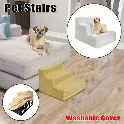 Dog Pet Stairs Cat 3 Steps Indoor Ramp Folding Portable Animal Ladder with Cover