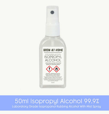 50ml Isopropyl Alcohol 99.9% Pure - Isopropanol Rubbing Alcohol Mist Spray Cap