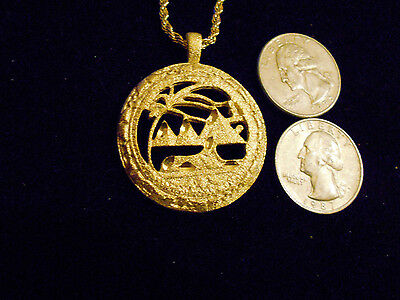 bling gold plated queen Egyptian desert oasis pyramid sphinx hip hop jewelry gp